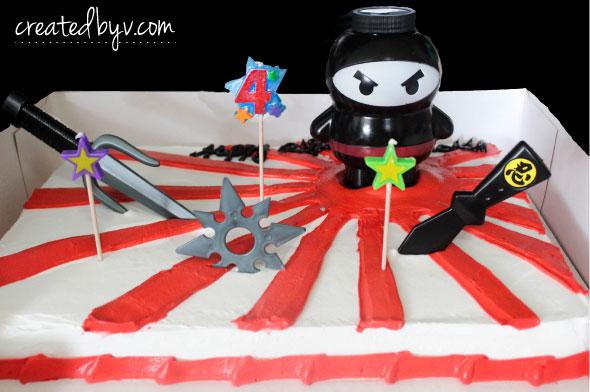 Astounding Ninja Birthday Party Cake Created By V Funny Birthday Cards Online Hendilapandamsfinfo