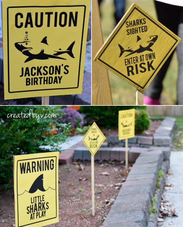 Shark Birthday Party Yard Signs Created By V