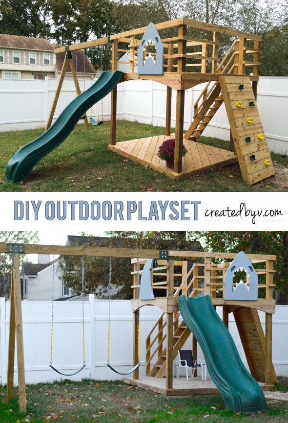 - DIY Outdoor Playset - Created By V.