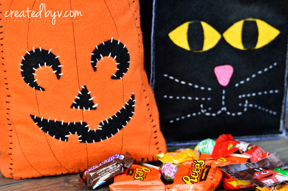 Diy Halloween Trick Or Treat Bags.Diy Halloween Trick Or Treat Bags Created By V