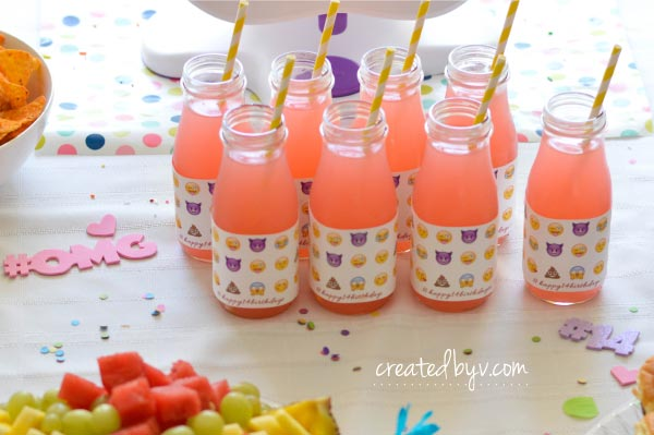 Emoji Bottle Wrappers Sensational Themed Party Supplies To Celebrate A Special Birthday