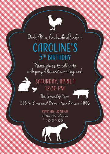 Petting zoo birthday invitation created by v petting zoo birthday invitation oink moo cockadoodle doo this is filmwisefo