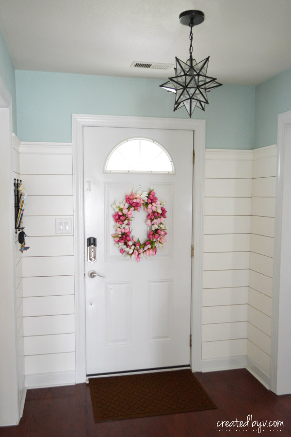How I Added Shiplap To The Entryway Created By V